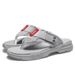 Casual Non-slip Wearable Open Toe Fashion Beach Shoes for Men (Color:Grey Size:43)
