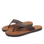 Fashion Trend Suede Sandals Slippers for Men (Color:Brown Size:44)