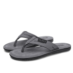 Fashion Trend Suede Sandals Slippers for Men (Color:Grey Size:39)