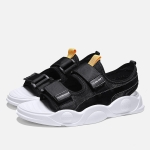 Trendy Sports Casual Breathable Sandals Slippers for Men (Color:Black Size:39)