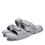 Fashion Trend Suede Casual Slippers for Men (Color:Grey Size:44)