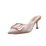 Stiletto Heel Pointed Head Trend Fashion Sandals and Slippers for Women (Color:Pink Size:39)