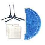 XI273 1 Pair I258 Side Brush + 2 PCS I206 Filter + I262 Cleaning Rag for ILIFE V8S