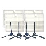 XI282 2 Pair I258 Side Brushes + 4 PCS I206 Filters for ILIFE V8S