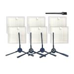 XI284 2 Pair I258 Side Brushes + 6 PCS I206 Filters + G101 Small Black Brush for ILIFE V8S