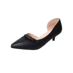 Pointed Head Simple Fashion Wild Shoes for Women (Color:Black Size:35)