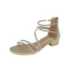 Fashion Open Toe Thick Bottom Bright Diamond Sandals for Women (Color:Green Size:37)