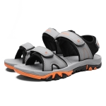 Comfortable and Breathable Casual Beach Sandals for Men (Color:Grey Size:40)