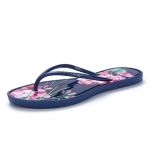 Stylish and Comfortable Wear-resistant Anti-skid Bohemian Flip Flops for Women (Color:Blue Size:36)