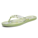 Marble Texture Lightwight Non-slip Flip Flops for Women (Color:Yellow Size:39)