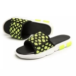 Breathable Mesh Fashion Trend Detachable Slippers for Men (Color:Green Size:43)