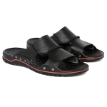 Comfortable and Breathable Casual Slippers for Men (Color:Black Size:38)