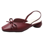 Fashion Wild Comfortable Shoes Sandals for Women (Color:Wine Red Size:35)