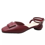 Fashion Wild Comfortable Shoes Sandals for Women (Color:Wine Red Size:39)