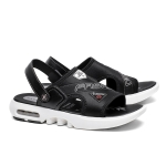 Youthful Trend Comfortable and Breathable Two-wear Sandals for Men (Color:Black Size:44)