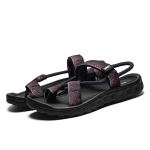 Ethnic Style Sandwich Toe Casual Sandals for Men (Color:Blue Red Size:39)