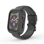 Two Color Conjoined Sport Watchband Watch Case for Apple Watch Series 4 40mm (Black)