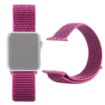 Simple Fashion Nylon Watch Strap for Apple Watch Series 4 & 3 & 2 & 1 42mm & 44mm, with Magic Stick (Red Purple)