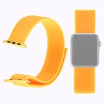 Simple Fashion Nylon Watch Strap for Apple Watch Series 4 & 3 & 2 & 1 42mm & 44mm, with Magic Stick (Yellow)