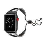 Diamond Bracelet Wrist Strap Watchband for Apple Watch Series 3 & 2 & 1 38mm(Black)