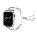 Diamond Bracelet Wrist Strap Watchband for Apple Watch Series 3 & 2 & 1 38mm(Silver)