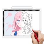 A4-19 6.5W Three Level of Brightness Dimmable A4 LED Drawing Sketchpad Light Pad with USB Cable (White)
