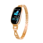 F18 0.96 inch TFT Color Screen Metal Watch Strap Smart Bracelet, Support Call Reminder/ Heart Rate Monitoring /Blood Pressure Monitoring/Sleep Monitoring/Blood Oxygen Monitoring(Gold)