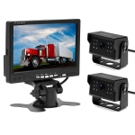 A1510 7 inch HD Car 12 IR Night Vision Rear View Backup Dual Camera Rearview Monitor, with 15m Cable