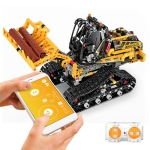 MoFun 13034 2.4GHz Remote Control DIY Assembly Electric Crawler Stunt Engineering Forklift Assembling Building Blocks Toys, Support APP Remote Control
