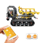 MoFun 13035 2.4GHz Remote Control DIY Assembly Electric Crawler Stunt Engineering Transport Vehicle Assembling Building Blocks Toys, Support APP Remote Control