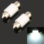 2 PCS 31mm DC12V 1.7W 6000K 135LM 2LEDs SMD-3030 Car Reading Lamp, with Decoder