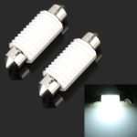 2 PCS 39mm DC12V 1.7W 6000K 135LM 2LEDs SMD-3030 Car Reading Lamp, with Decoder