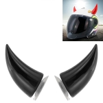 2 PCS Motorcycle Helmet Devil Decoration Motorbike Helmet Suction Cups Horns Decoration Headwear Sucker (Black)