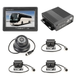 Truck 360 Degree Real-time Monitoring 4 CH SD Real-time 720P 1280*720 Pixels SD Mobile DVR, Support SD Card(Max 128G), with Monitor