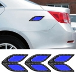 6 PCS Car Luminous Anti-collision Strip Protection Guards Trims Stickers (Blue)