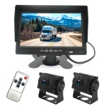 PZ612-2AHD IP67 120 Degree Car AHD 1080P 2 Megapixels 7 inch Front and Rear Double Recording 2 Way Rearview Mirror Monitor, Night Vision Full Color, with Video Function