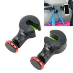 2 PCS 2 in 1 Vehicle Back Seat Hanger Hook Mobile Phone Magnetic Holder with Indicator Light