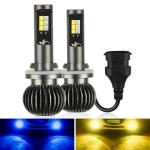 2 PCS EV14 880 / 881 DC9-32V / 6W / IP67 Car LED Double Color Fog Light, Ice Blue Light + Amber Light