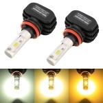2 PCS X6 H11 / H8 DC9-18V / 18W / 6000K / 1800LM Car LED High Brightness Fog Light, CSP Lamp Beads