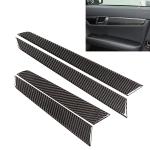 4 PCS Car Door Panel Carbon Fiber Decorative Sticker for Mercedes-Benz W204