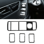 4 PCS Car Window Lift Panel Carbon Fiber Decorative Sticker for Mercedes-Benz W204