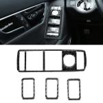 4 PCS Car Window Lift Panel Carbon Fiber Decorative Sticker for Mercedes-Benz W204