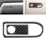 2 PCS Car Passenger Seat Storage Box Handle Carbon Fiber Decorative Sticker for Mercedes-Benz W204