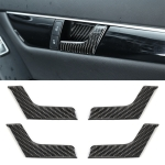 4 PCS Car Door Inner Handle Panel Carbon Fiber Decorative Sticker for Mercedes-Benz W204