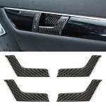 4 PCS Car Door Inner Handle Panel Carbon Fiber Decorative Sticker for Mercedes-Benz W204