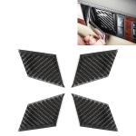 4 PCS Car Door Inner Handle Wrist Panel Carbon Fiber Decorative Sticker for Mercedes-Benz W204