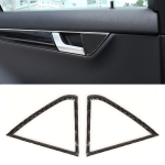 2 PCS Car Rear Horn Panel Carbon Fiber Decorative Sticker for Mercedes-Benz W204