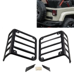 2 PCS Car Tail Light Aluminum Alloy Mount Bracket Protect Cover Guards Rear Taillights Frame for Jeep Wrangler 2007-2018
