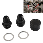 M28~10AN Black Engine Rear Block Breather Fitting Adapter for Honda Oil Catch Can B16 B18C
