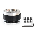 Universal 60mm Car Steering Wheel Quick Release HUB Racing Adapter Snap Off Boss Kit (Black)